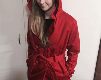 The 'Molly' Winter Coat - Replica Pretty Little Liars Hooded Coat, PLL