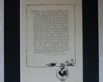 1920s Antique Arthur Rackham Print, Spinning Wheel Decor, Available Framed, Textile Art, Fairy Tale Nursery Gift, Sleeping Beauty Picture
