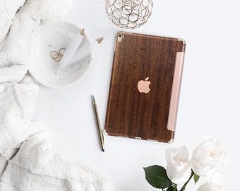 Platinum Natural Series Primavera Wood with Rose Gold Detailing Hybrid Smart Cover Hard Case for the iPad Air 2, iPad mini 4 , iPad Pro