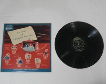 An Hour of Operetta Favorites Music LP Record Album 1280 Vintage