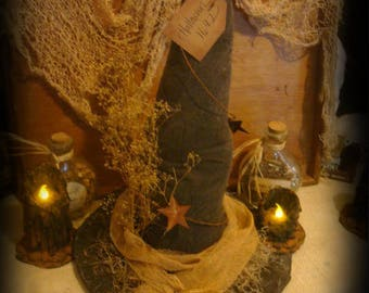Primitive Witches Hat Halloween Decor