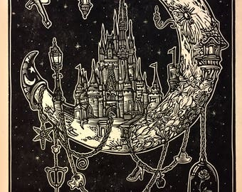 Disneymoon Block Print