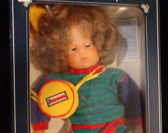 Corolle Catherine Refabert Doll - wavy brunette jogging suit new in box MIB 1980s French France doll
