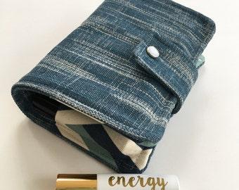 Denim Roller Case/ Essential Oil Roller Bottle Case / Essential Oil Roller Bottle Bag / Essential Oil Bag / Essential Oil Travel Bag