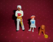 Little Orphan Annie Mini Figures Set of 3 Annie Punjab and Sandy the Dog SO CUTE! 80's Toys