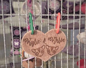 Personalized Engraved Sugar Glider Cage Tag
