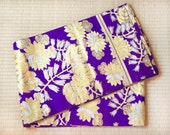Purple gold silk fukuro o...