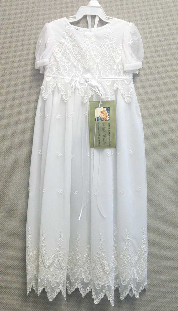 Ava Lace Christening Gown Lace Baptism Gown Blessing Gown