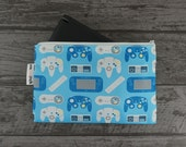Generations Gaming Controllers Patterned Nintendo New 2DS XL / 3DS XL / PS Vita / Kindle Zip Case -also for tablets, pencils, tools & makeup