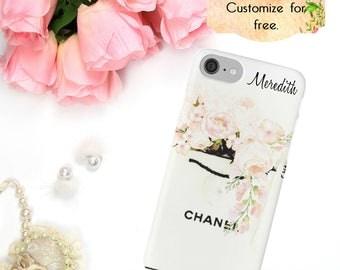 Chanel Phone Case, Chanel Shopping Bag, Watercolor Phone Case, iPhone 6 7 Plus, Samsung Galaxy Case Edge Luxury Fashion Designer iPhone Case