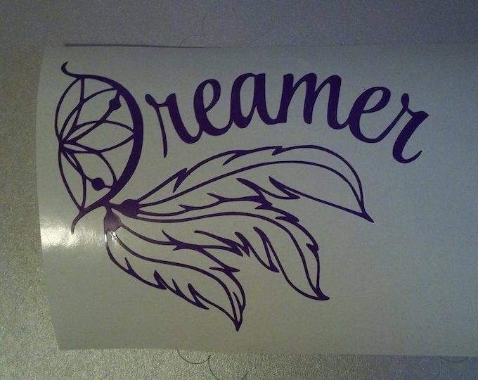 Dreamer Dream Catcher Vinyl Decal