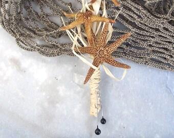 starfish boutonniere, beach wedding boutonniere, natural starfish boutonniere, coastal wedding corsage, starfish corsage, beach buttonhole