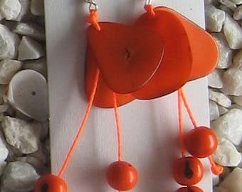 1 pair TAGUA ACAI EARRINGS Peruvian eco friendly jewelry