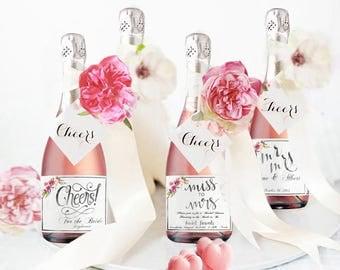floral bridal shower invitation printed labels wedding favors for guests gift  bridal shower favors labels rustic bridal shower decorations