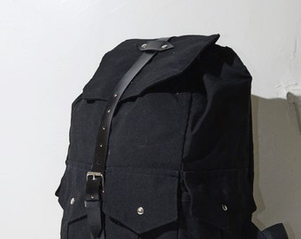 Black/Silver Backpack