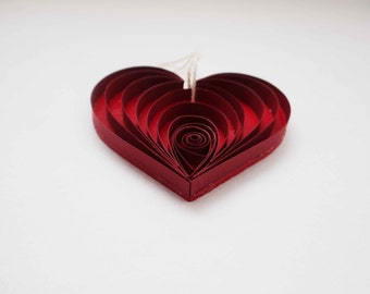 Quilled Red Heart Ornament