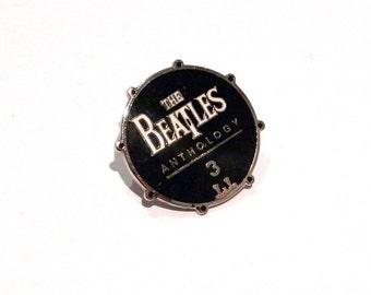 Beatles Enamel Pin 1996 Vintage Anthology 3 Pinback Band Badge 90s John Lennon George Harrison Paul McCartney Ringo Starr Backpack Pin