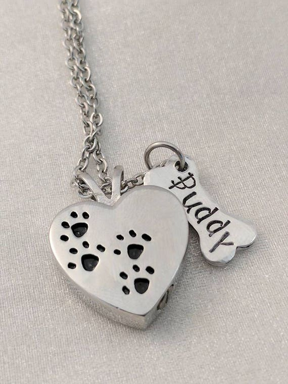 Pet Loss Gift - Heart Urn Necklace - Pet Sympathy Gift - Pet Urn - Dog Loss - Loss of Dog - Pet Loss Jewelry - Pet Memorial - Rainbow Bridge