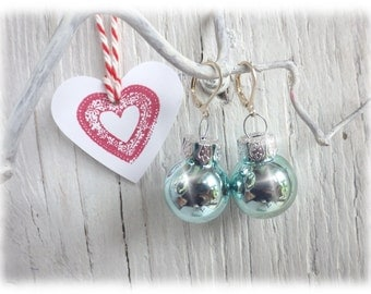 Mint gold xmas gifts etsy for Weihnachtskugeln vintage