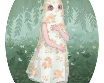 Floral Ghost - Creepy Cute Illustration