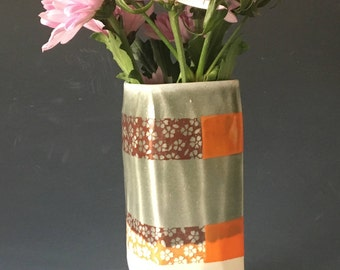 Grey and Orange Vase