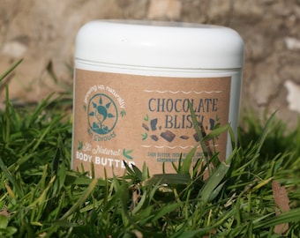 Whipped Body Butter All Natural Chocolate Bliss Scent Moisturizing 4 oz.