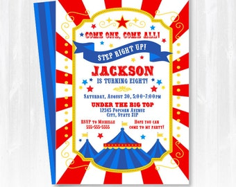 Circus Invitations - Carnival Birthday Invitations - Carnival Themed Invitations - Circus Party Invitations - INSTANT DOWNLOAD - Edit NOW!