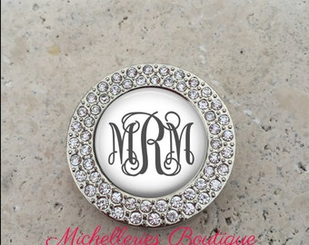 Personalized Monogram Rhinestone Purse Hanger, Purse Holder, Purse Hook, Diaper Bag, Lunch Bag, Bridesmaid Gift, Wedding Party Gift, MB314