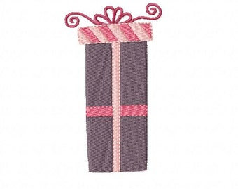All Wrapped Up for Gift Giving ~ Machine Embroidery Design in 1 size - Instant Download