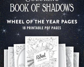 Wheel of the Year: Printable Coloring Book of Shadows Pages