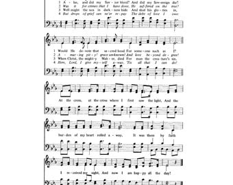 At the Cross Alas! and Did My Savior Bleed Hymn Digital Sheet Music Easter Christian Faith Jesus Christ Grace Resurrection Gift DIY Church