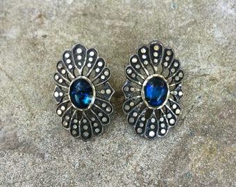 Native American Earrings | Navajo Jewelry | Signed Silver Cloud