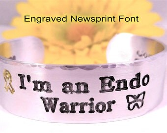 Endometriosis, Endo Warrior, Endo, Need A Cure,  I'm an Endo Warrior, Medical ID, Butterfly, Ribbon, Endometriosis Awareness, Gift For Her