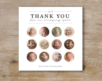 Photography Year in Review Card Template - Photography Thank You Card Template - Photographer Year in Review Template