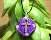 Rose Quartz Orgone Pendant - Ankh - Handmade Healing Jewelry - Orgone Chi Prana Energy Balancing Healing Jewellery - Small