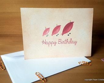 Girl Birthday Card, Cute bird Birthday Card for her, Birthday card girlfriend, birthday card mum, Birthday card wife, birthday card sister