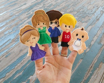 My Family Finger Puppet Play Set , Sold Individually or as a Set