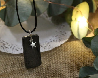 Original necklace in concrete with mini star