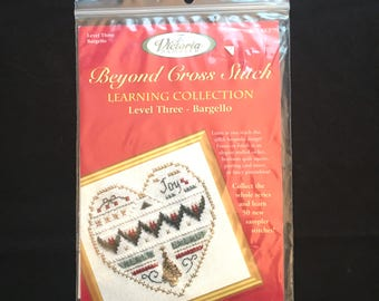 Bargello Sampler, Heart Sampler, The Victoria Sampler Beyond Cross Stitch Learning Collection Level 3 Kit, Florentine Stitch