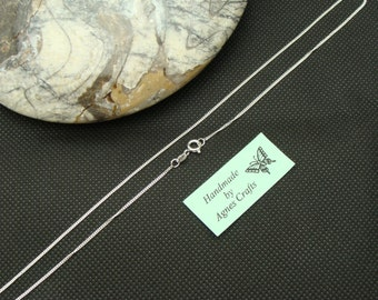 "ADD-ON Medium Curb Sterling Silver chain 16"", please Do Not purchase without my pendant, Add-On chain to my pendants only"