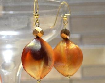 Honey Bee Earrings, Bumble Bee Shaman Spirit Animal Totem,  Minoan Goddess Greek Earrings, Magick Pagan Prayer Beads Occult Jewelry