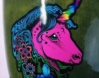 """4"""" Rainbow Trippy Unicorn Sticker  Waterproof Vinyl Sticker Laptop Sticker Car Sticker"""