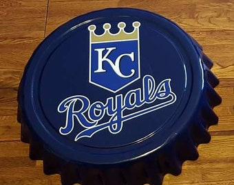 "Kansas City Royals MLB Baseball Giant 16"" Bottle Cap Wall Hanging"
