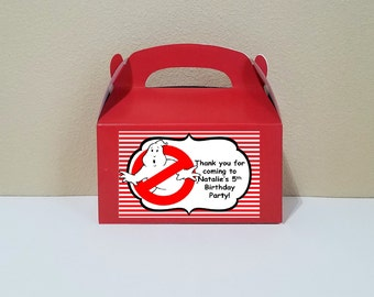 12 Personalized Ghostbusters Gable Boxes Ghostbusters Favor Boxes Ghostbusters Treat Boxes Ghostbusters Party Favors