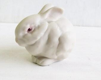 Cybis Porcelain Rabbit Mr Snowball - Signed Collectible Albino Bunny Rabbit