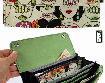 Wallet accordion fabric