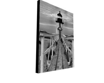 Nantucket Lighthouse Photography Canvas Cape Cod Photograph Coastal New England Art Print Modern Artwork Nantucket Island Landscape