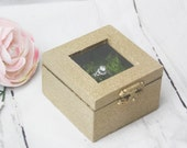 Ring Box, Engagement Gift, Garden Wedding, Moss, Green wedding