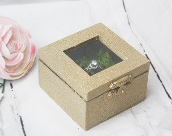 Ring Box, Engagement Gift, Garden Wedding, Moss, Green wedding