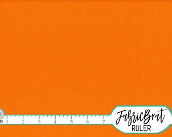 KONA COTTON ORANGE Solid Fabric by the Yard, Fat Quarter Robert Kaufman Orange Solid fabric K001-1265 100% Cotton Quilting Fabric w11-21